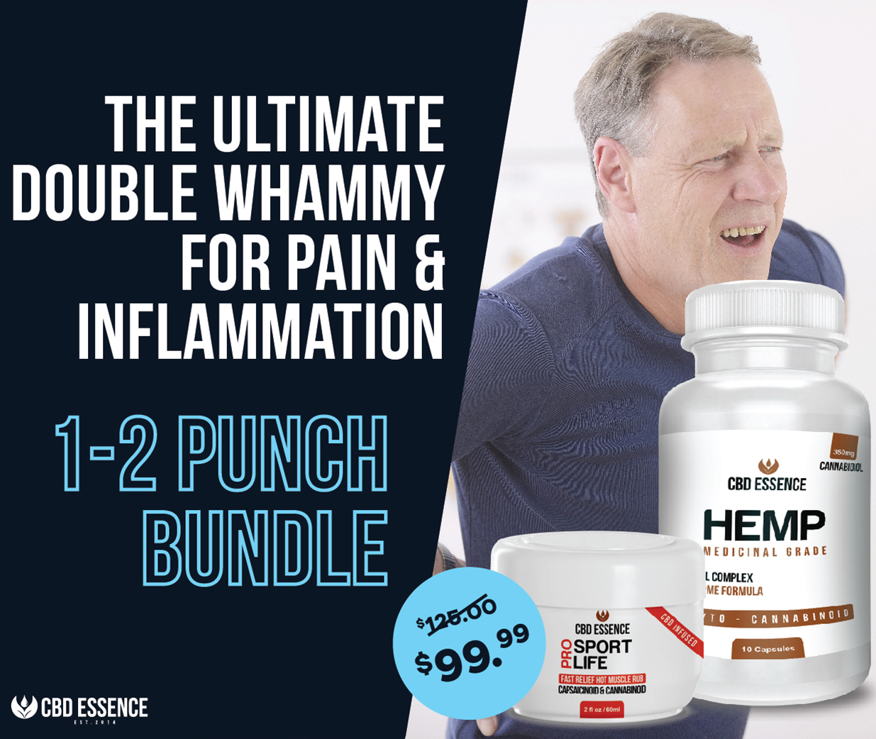 CBD Essence Pain & Inflammation 1-2 Punch Bundle Special