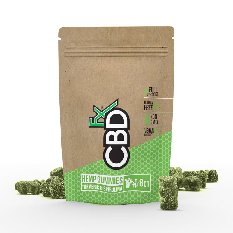 CBDfx CBD Gummies with Turmeric & Spirulina 40mg (8ct Pouch)
